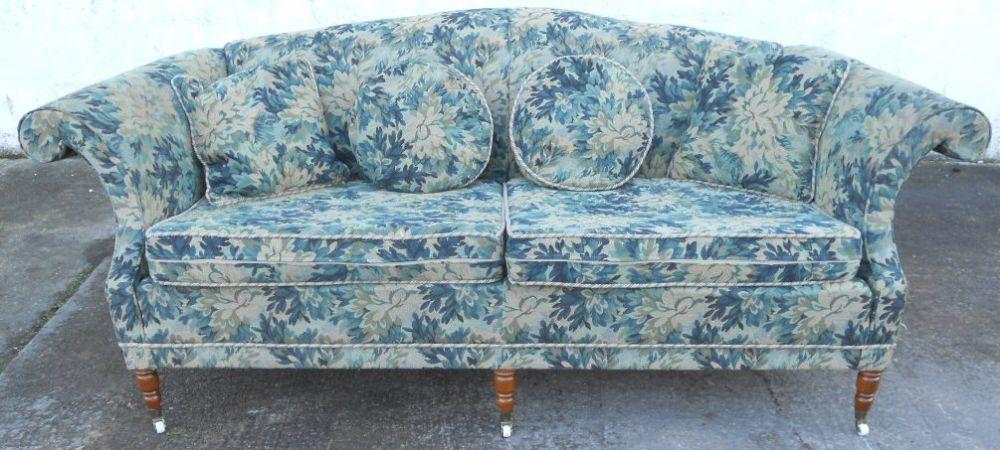 Antique Georgian Style Large Three Seater Upholstered Settee